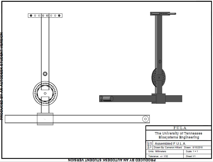 Schematic drawing of the complete universal lift assist lever