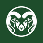 CSU ram head with green background
