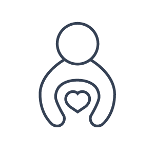 person holding heart icon